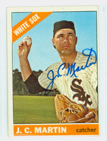 JC Martin AUTOGRAPH 1966 Topps #47 White Sox CARD IS VG/EX; AUTO CLEAN