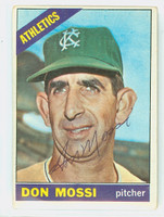 Don Mossi AUTOGRAPH 1966 Topps #74 Athletics CARD IS G/VG; CRN CREASE