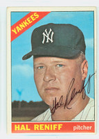 Hal Reniff AUTOGRAPH d.04 1966 Topps #68 Yankees CARD IS VG/EX; AUTO CLEAN
