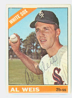 Al Weis AUTOGRAPH 1966 Topps #66 White Sox CARD IS VG; CRN WEAR, AUTO CLEAN