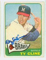 Ty Cline AUTOGRAPH 1965 Topps #63 Braves CARD IS VG/EX; AUTO CLEAN