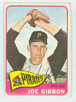 Joe Gibbon AUTOGRAPH 1965 Topps #54 Pirates CARD IS F/G; CRN CREASE, AUTO CLEAN