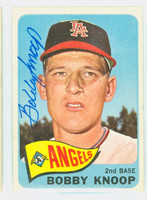 Bobby Knoop AUTOGRAPH 1965 Topps #26 Angels CARD IS G/VG; AUTO CLEAN