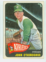 John O Donoghue AUTOGRAPH 1965 Topps #71 Athletics CARD IS G/VG; ROUND CRNS, AUTO CLEAN