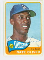 Nate Oliver AUTOGRAPH 1965 Topps #59 Dodgers CARD IS VG; AUTO CLEAN