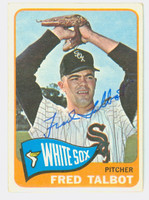 Fred Talbot AUTOGRAPH d.13 1965 Topps #58 White Sox CARD IS VG; AUTO CLEAN