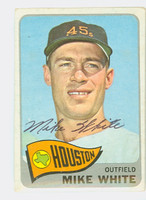 Mike White AUTOGRAPH 1965 Topps #31 Astros CARD IS VG; AUTO CLEAN