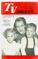 1951 TV Digest May 12 Robin Chandler (TV Mother) (32 pgs) Delaware edition Excellent  [Very lt wear on cover, very clean; label stamped on reverse]