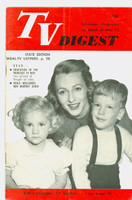 1951 TV Digest May 12 Robin Chandler (TV Mother) (32 pgs) Pennsylvania State edition Very Good  [Lt vert crease on cover, contents fine; label stamped on reverse]