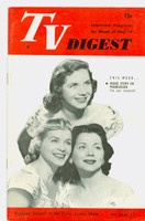 1951 TV Digest May 19 Fontane Sisters of the Perry Como Show (32 pgs) Philadelphia edition Excellent to Mint - No Mailing Label  [Very lt wear on cover, very clean]