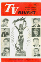 1951 TV Digest May 26 Popularity Poll Winners (Sid Caesar) (32 pgs) Pennsylvania State edition Very Good  [Lt wear, warping on cover; label stamped on reverse]