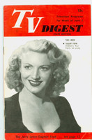 1951 TV Digest June 2 Dagmar (art: The Jerry Lester - Dagmar feud) (32 pgs) Pennsylvania State edition Very Good  [Sl bend along binding; label stamped on reverse]