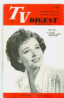 1951 TV Digest June 9 Laraine Day (32 pgs) Delaware edition Excellent  [Sl bend along binding; label stamped on reverse]