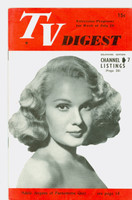 1951 TV Digest July 28 Adele Jergens of Pantomime Quiz (32 pgs) Delaware edition Excellent  [Lt wear on cover, ow clean; label stamped on reverse]