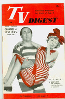 1951 TV Digest August 4 Sid Caesar and Imogene Coca (32 pgs) Pennsylvania State edition Very Good to Excellent  [Bend along binding; label stamped on reverse]