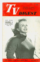 1951 TV Digest August 18 Ilene Woods of the Garry Moore Show (32 pgs) Philadelphia edition Very Good to Excellent  [Lt wear on cover, ow clean; label stamped on reverse]