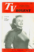 1951 TV Digest August 18 Ilene Woods of the Garry Moore Show (32 pgs) Philadelphia edition Very Good  [Lt wear, spotting on cover; label stamped on reverse]
