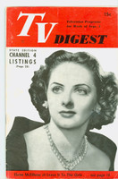 1951 TV Digest September 1 Eloise McElhone of Leave it To the Girls (32 pgs) Pennsylvania State edition Very Good to Excellent  [Wear on cover; contents fine, label stamped on reverse]