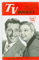 1951 TV Digest October 13 Frances Langford and Don Ameche (40 pgs) Pennsylvania State edition Excellent  [Lt wear on cover, ow clean; label stamped on reverse]