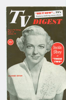 1952 TV Digest January 19 Vivian Blaine of Those Two (40 pgs) Delaware edition Very Good to Excellent  [Lt wear on cover, ow clean; label stamped on reverse]
