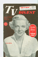 1952 TV Digest January 19 Vivian Blaine of Those Two (40 pgs) Pennsylvania State edition Very Good  [Heavy bend, creasing on cover, contents fine; label stamped on reverse]