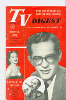 1952 TV Digest January 26 Groucho Marx, Robert Q. Lewis (40 pgs) Pennsylvania State edition Excellent  [Lt wear on cover, ow clean; label stamped on reverse]