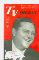 1952 TV Digest February 2 Sam Levinson (40 pgs) Pennsylvania State edition Very Good to Excellent  [Lt wear on cover, ow clean; label stamped on reverse]