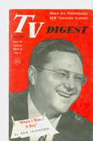 1952 TV Digest February 2 Sam Levinson (40 pgs) Pennsylvania State edition Very Good  [Wear and lt spotting on cover, label stamped on reverse]