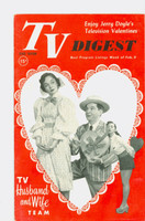 1952 TV Digest February 9 Peter Lind Hayes and Mary Healy (40 pgs) Pennsylvania State edition Excellent to Mint  [Very clean]