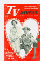 1952 TV Digest February 9 Peter Lind Hayes and Mary Healy (40 pgs) Pennsylvania State edition Very Good to Excellent  [Lt wear on cover, ow clean; label stamped on reverse]