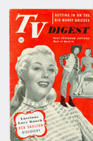 1952 TV Digest March 15 Lucy Knoch (40 pgs) Pennsylvania State edition Very Good to Excellent  [Lt wear on cover, ow clean; label stamped on reverse]