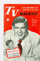1952 TV Digest March 22 Johnny Ray (40 pgs) Pennsylvania State edition Excellent  [Lt wear on cover, ow clean; label stamped on reverse]