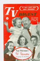 1952 TV Digest March 29 TV Teens (40 pgs) Delaware edition Excellent - No Mailing Label  [Lt wear on cover, ow clean]