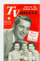 1952 TV Digest April 26 Perry Como (40 pgs) Pennsylvania State edition Very Good to Excellent  [Heavy corner crease, label stamped on reverse; contents fine]