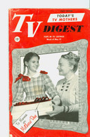 1952 TV Digest May 10 Peggy Wood of I Remember Mama (40 pgs) Pennsylvania State edition Very Good  [Lt wear and small stain on cover, ow clean]