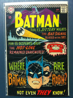 BATMAN #184 Mystery of the Missing Manhunters Sep 66 Very Good to Fine Wear on cover, ow very clean