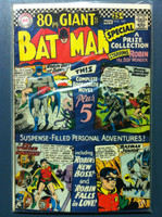 BATMAN #185 Batman Junior (Giant - 80 pgs) Oct 66 Very Good Wear on clover, binding sl split, contents fine