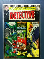 DETECTIVE COMICS ft: BATMAN & ROBIN #350 The Monarch of Menace Apr 66 Very Good Wear on cover, creasing, wear along binding; contents fine