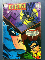DETECTIVE COMICS ft: BATMAN & ROBIN #376 Hunted - or Haunted Jun 68 Good Heavy wear on cover, creasing, wear along binding; contents fine