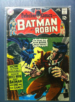DETECTIVE COMICS ft: BATMAN & ROBIN #386 Stand-In for Murder Apr 69 Very Good Heavy wear on cover, creasing, wear along binding; contents fine