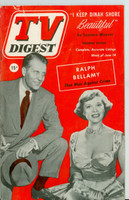 1952 TV Digest June 14 Ralph Bellamy of Man Against Crime (48 pgs) Delaware edition Very Good  [Creasing on cover, contents fine]