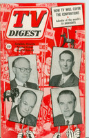 1952 TV Digest June 28 TV Convention Coverage  (40 pgs) Philadelphia edition Very Good  [Wear on cover, label stamped on reverse; contents fine]