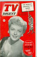1952 TV Digest July 19 Martha Stewart of Those Two (40 pgs) Philadelphia edition Very Good  [Wear on cover, label stamped on reverse; contents fine]