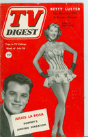 1952 TV Digest July 26 Julius La Rosa (40 pgs) Pennsylvania State edition Excellent  [Lt wear on cover, ow clean; label stamped on reverse]