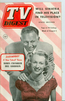 1952 TV Digest August 2 Robin Chandler and Bill Goodwin (40 pgs) Pennsylvania State edition Excellent  [Lt wear on cover, ow clean; label stamped on reverse]