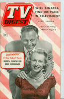 1952 TV Digest August 2 Robin Chandler and Bill Goodwin (40 pgs) Pennsylvania State edition Very Good to Excellent  [Wear on cover, label stamped on reverse; contents fine]