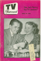 1950 TV Forecast April 29 Lucky Letters (Game Show) (32 pgs) Chicago edition Excellent