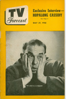1950 TV Forecast May 27 Cliff Norton of Chicago's WNBQ (40 pgs) Chicago edition Good to Very Good