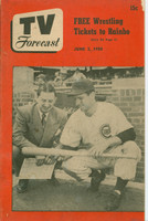 1950 TV Forecast June 3 Andy Pafko of the Chicago Cubs (36 pgs) Chicago edition Very Good - No Mailing Label