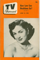 1950 TV Forecast June 10 Paula Rae (36 pgs) Chicago edition Very Good to Excellent - No Mailing Label